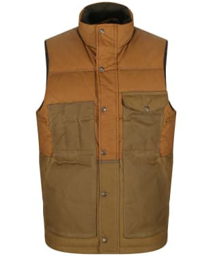 Men's Filson Down Cruiser Vest - Dark Tan