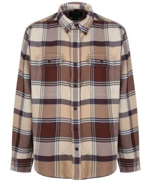 Men's Filson Vintage Flannel Work Shirt - Beige / Navy / Brown