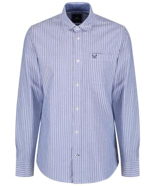 Men's Crew Clothing Whitmore Classic Stripe Shirt - Ultra Marine