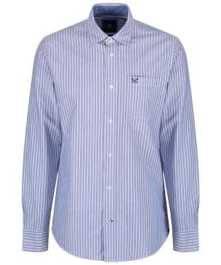 Men's Crew Clothing Whitmore Classic Stripe Shirt - Ultra Marine
