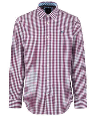 Men's Crew Clothing Classic Gingham Shirt - Washed Plum