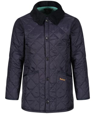 Boy's Barbour Liddesdale Quilted Jacket, 2-9yrs - Navy / Nevada