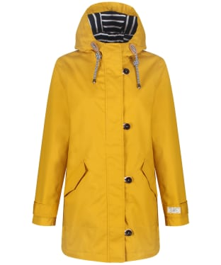 Women's Joules Coast Mid Length Waterproof Jacket - Antique Gold