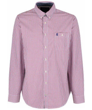 Men's Joules Hewney Shirt - Red / Blue Gingham