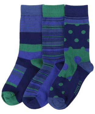 Men's Joules Striking 3 Pack Socks