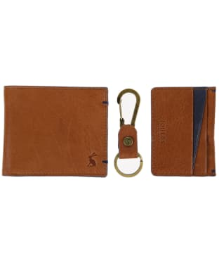 Men's Joules Brigham Leather Wallet Giftset - Tan