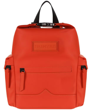 Hunter Original Mini Top Clip Backpack - Rubberised Leather - Orange