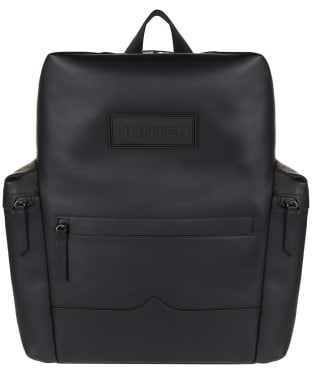 Hunter Original Large Top Clip Backpack - Rubberised Leather - Black