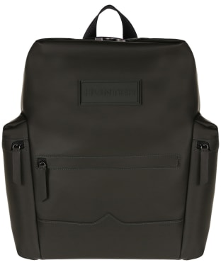 Hunter Original Large Top Clip Backpack - Rubberised Leather - Dark Olive