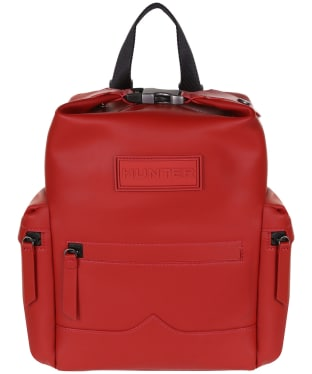 Hunter Original Mini Top Clip Backpack - Rubberised Leather - Military Red