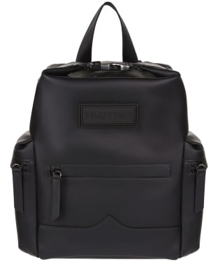Hunter Original Mini Top Clip Backpack - Rubberised Leather - Black