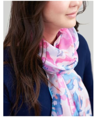 Women's Joules Wensley Scarf - Pink Floral