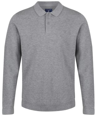 Men's GANT Honeycomb Sweatshirt - Grey Melange