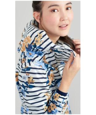 Women's Joules GoLightly Waterproof Jacket - Cream Stripe Floral