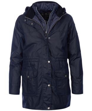 Women's Barbour Mablethorpe Waxed Jacket - Royal Navy