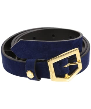 Women's Fairfax & Favor Sennowe Belt - Navy Blue Suede