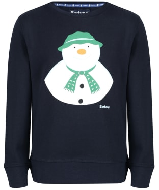 Barbour Kids 'The Snowman™' Howard Top, 10-15yrs - Navy