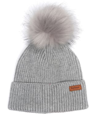 Women's Barbour Dover Pom Beanie Hat - Grey