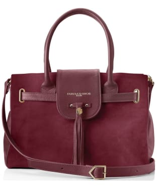 Women's Fairfax & Favor Windsor Handbag - Oxblood