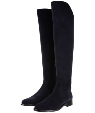 Women's Fairfax & Favor Flat Amira Boots - Navy Blue Suede