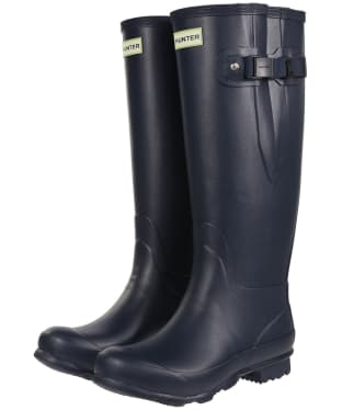 Women's Hunter Norris Field Wide Fit Wellington Boots - Navy
