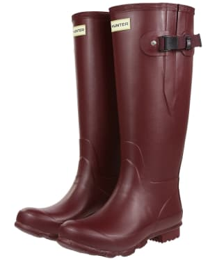 Women's Hunter Norris Field Wide Fit Wellington Boots - Dulse