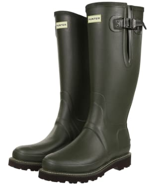 Men's Hunter Field Balmoral Neo Adjustable Wellington Boots - Dark Olive