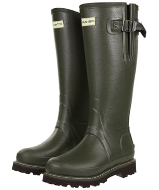 Women's Hunter Field Balmoral Neo Commando Wellington Boots - Dark Olive