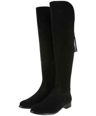 Women's Fairfax & Favor Flat Amira Boots - Black Suede