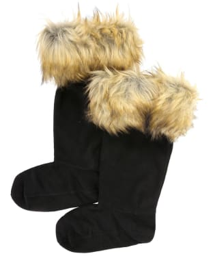 Hunter Original Faux Fur Cuff Boot Socks - Tawny Brown
