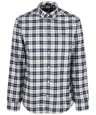 Men's GANT Brushed Oxford Plaid Shirt - Putty