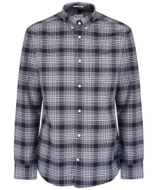 Men's GANT Regular Heavy Check Shirt - Evening Blue