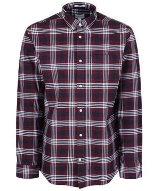 Men's GANT Regular Heavy Check Shirt - Mahogany Red