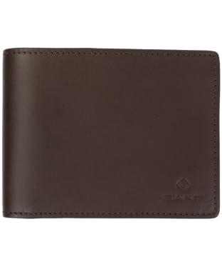 Men's GANT Leather Wallet - Black Coffee