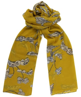 Women's Joules Wensley Scarf - Gold Floral