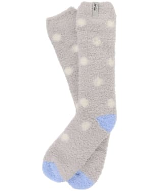 Women's Joules Fabulously Fluffy Socks - Grey Spot