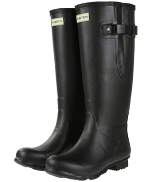 Women's Hunter Norris Field Wide Fit Wellington Boots - Black