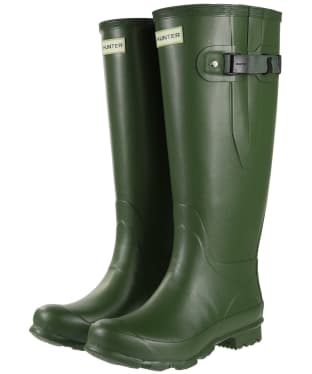 Women's Hunter Norris Field Wide Fit Wellington Boots - Vintage Green
