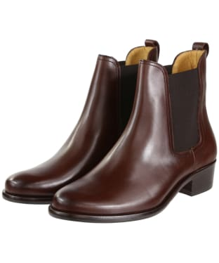 Women's Fairfax & Favor Chelsea Boots - Mahogany Leather