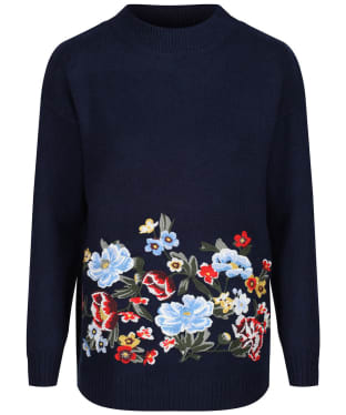 Women's Joules Penny Embroidered Jumper - French Navy