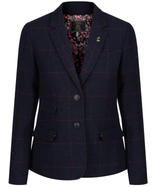 Women's Joules Wiscombe Tweed Blazer - Blue Tweed