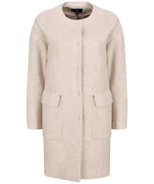Women's GANT Collarless Boiled Wool Coat - Manila Melange