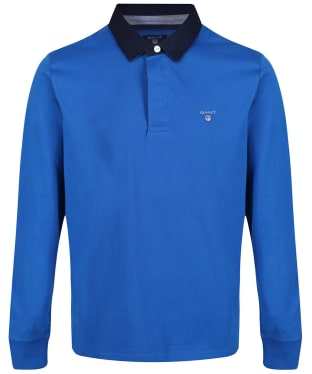 Men's GANT Original Heavy Rugger Polo Shirt - Lapis Blue
