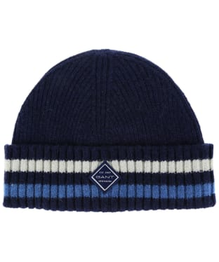 Men's GANT Rib Knit Hat - Persian Blue