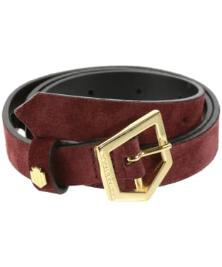 Women's Fairfax & Favor Sennowe Belt - Oxblood Suede