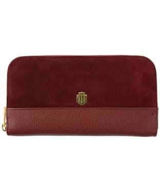 Women's Fairfax & Favor Salisbury Leather Purse - Oxblood