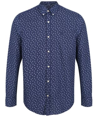 Men's GANT Yarn-Dyed Print Shirt - Marine