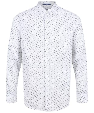 Men's GANT Yarn-Dyed Print Shirt - White