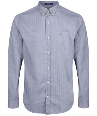 Men's GANT Regular Herringbone Shirt - Persian Blue