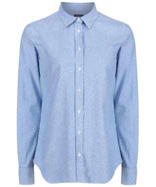 Women's GANT Snow Dot Oxford Shirt - Nautical Blue